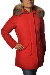 Woolrich WCPS2833 Parka de en matériau Brillant Rouge Rouge XS