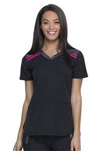 dickies DK740 Dynamix T-Shirt à col en V pour Femme – Noir – XXX-Large