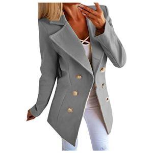 Veste Femme Chic,Femmes Grande Taille Boutons Front Ouvert Militaire Manteau Bureau Veste Outwear Blazers Femme Manches Longues Veste Blouson Hiver Femme Chaude