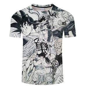 3D Impression Numérique T-Shirt À Manches Courtes Pull Tops Home Wear À La Mode Coloré Graphique Amoureux Col Rond Chemise Décontractée XS Coloré