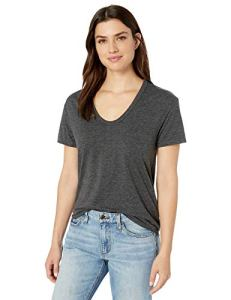 AG Adriano Goldschmied Women's Henson Tee, Heather Charcoal, Extra Small