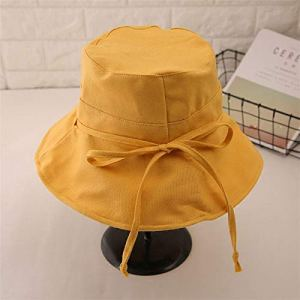 ASDWA Chapeau De Soleil Femme,Vintage Dames Chapeau De Soleil Couleur Unie Casual Jaune Pliable Protection UV Chapeau Cadeau De Pâques pour Hommes Femmes Été Chapeau De Plage