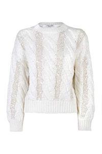 Brunello Cucinelli Luxury Fashion Femme M3Y672000CN803 Blanc Maille |