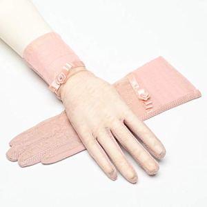 Crème Solaire Mince Gants écran Tactile antidérapants Gants en Dentelle Sports de Plein air de Course pour Femme,Rose