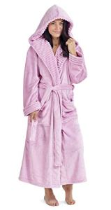 Dames Robe de Chambre Pingouin Owl Femmes Robes Robe en Peluche Nouveauté Animal Hood Super Soft Touch Polaire Peignoirs à Capuche pour Elle! (XL, bébé Rose)