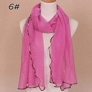 DJLHN Écharpe Femme Pas chère Vintage Wrap Scarf Shawl Fashion en Mousseline de Soie écharpe Unie – 6,200cm 55cm