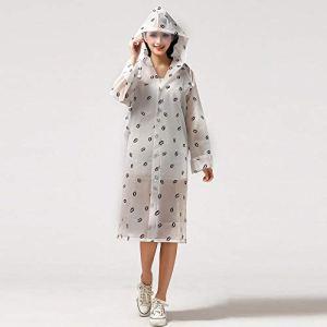EDCRFV Mode Eva Transparent Imperméable Femmes Imperméable Poncho Coupe-Vent Manteau De Pluie avec Sac D'École Emplacement Escalade Tour Imperméable XL B