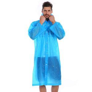 EDCRFV Mode Femmes Imperméable Épaissi Imperméable Imperméable Manteau Femmes Clair Transparent Camping Imperméable Imperméable Costume Bleu