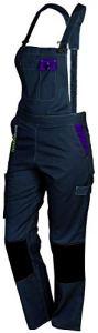 FASHION SECURITE – PEP's – Salopette de Travail – Femme – Gris (Gris/violet) – Taille: XL (48/50)