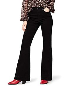 find. High Rise_AMZ090103 Flared Jeans, Schwarz (Black), W28/L32 (Taille Fabricant: 38)