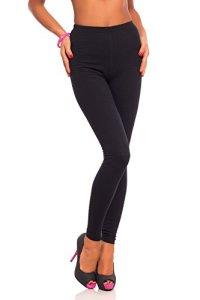 Futuro Fashion Jambières Coton Pleine Longueur Tous Coloris Toutes Les Tailles Active Pantalon Sport Pantalon – Noir, EU 38