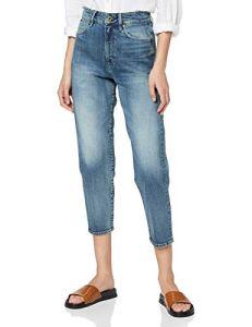 G-STAR RAW Janeh Ultra High Waist Mom Ankle Jean Droit, Bleu (Vintage Sailoblue B767-B172), W33/L34 (Taille Fabricant: 33W/ 34L) Femme