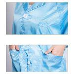 IIWOJ Sécurité Protection Vêtements, Vêtements Antistatiques, Vêtements De Travail Réutilisables, Protéger La Sécurité des Utilisateurs,Blanc,XL