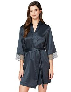 Iris & Lilly Amz19ssr03 Robe De Chambre, Gris (Dark Grey), 44 (Taille fabricant: X-Large)