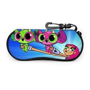 KANKANHAHA Teen Titans Go! Étui à lunettes, étui à lunettes de soleil portable avec fermeture éclair