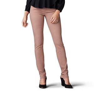 LEE Women's Sculpting Fit Slim Leg Pull on Jean (Antler, 2 Long)