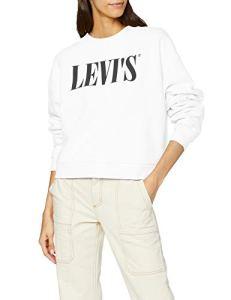 Levi's Graphic Diana Crew Sweat-Shirt, Blanc (90's Serif White+ 0000), Medium Femme