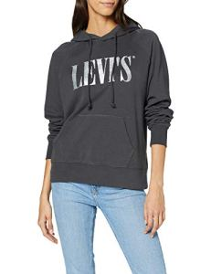 Levi's Graphic Sport Sweat-Shirt À Capuche, – Gris (Hoodie T3 90's Serif Forged Iron 0127) – Medium (Taille Fabricant: M)