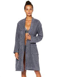 Marque Amazon – Iris & Lilly Ozbf004041 Robe De Chambre, Gris (Grey), 38 (Taille fabricant: Small)