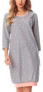 Merry Style Chemise de Nuit Vêtement d'Intérieur Femme MS10-182 (Gris/Points, XXL)