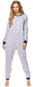 Merry Style Combinaison Pyjama Vêtement d'Intérieur Femme MS10-187 (Mélange/Nœuds2, XL)