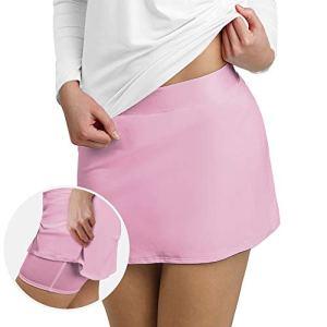 MONYRAY Jupe de Golf Crayon Mini Jupe-Short de Course Stretch pour Femme/Fille Rose FR38-40 (Étiquette M)
