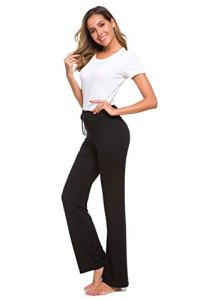 NB Pantalon de Yoga décontracté avec Cordon de Serrage pour Femme – Noir – Taille Unique