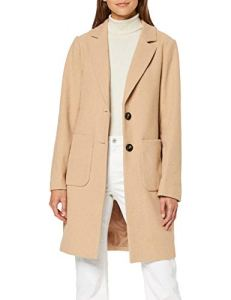 New Look Aw19 Piper Manteau, Beige (Oatmeal 14), 40 (Taille Fabricant: 12) Femme