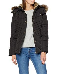 New Look Maisie Fitted Puffer, Manteau Veste damassée Femme, Noir (Black 1), 42 (Taille fabricant: 14)