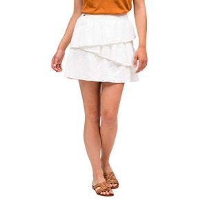 OxbOw M1UMBELINA Mini Jupe Femme, Blanc, FR : S (Taille Fabricant : S)