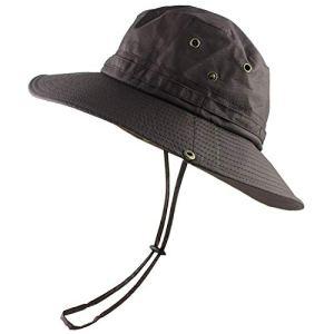 Pink-star Chapeau de Soleil léger pour Femme et Homme – Seau en Maille – Chapeau de pêche d'été – Protection UV – Rabat Respirant – pour la Plage – Marron – Taille Unique