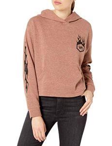 RVCA Sweat-Shirt à Capuche en Polaire forgée Junior – Rouge – X-Small