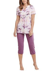 Schiesser Anzug 3/4 Lang, 1/2 Arm Ensemble De Pyjama, Rouge (Beere 512), 42 (Taille Fabricant: 040) Femme