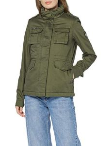 Superdry Amelia Rookie Icon Jacket Blouson, Vert (Chive BC3), 42 (Taille Fabricant: Large) Femme