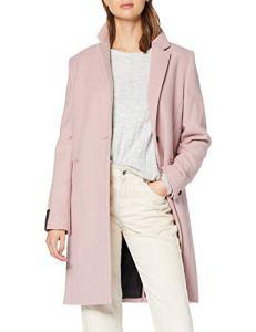Superdry Ariana Wool Coat Manteau, Violet (Mauve 27R), 40 (Taille Fabricant: Medium) Femme