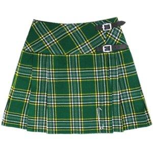 Tartanista – Femme – Mini-Jupe – façon Kilt – 42 cm (16,5″) – Irlandais – 38