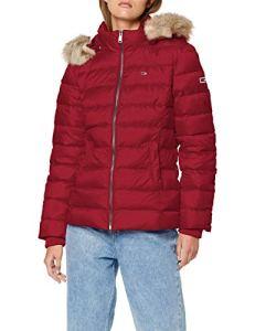 Tommy Jeans Essential Hooded Down Jacket Blouson, (Purple Vg5), Medium Femme