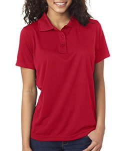 Ultraclub Ladies' Cool & Dry Jacquard Performance Polo Shirt