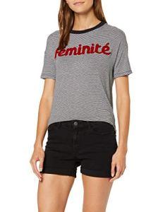 Vero Moda NOS Vmhot Seven Nw DNM Fold Shorts Mix Noos Femme , Noir (Black) , 38 (Taille fabricant: Small)