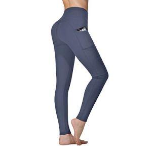 Vimbloom Leggings de Sport Femmes Pantalon de Yoga avec Poches Yoga Fitness Gym Taille Haute Leggings VI263 (Gris Bleu, XXL)