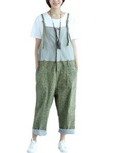 Vogstyle femme ajusté combinaison imprimé salopettes Style-3 Vert