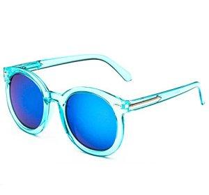 Westeng Lunettes de soleil mode rétro femmes UV400 Bleu