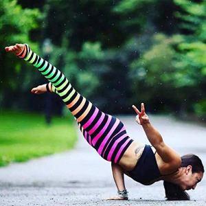 WUANNI Collant Cellulite Pantalon De Yoga Taille Haute Femme,Pantalon de Yoga pour Femmes imprimé numérique Leggings Skinny Sport-J_L