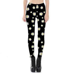 WUANNI Legging De SurvêTement pour Yoga Fitness Augmenter,Pantalon de survêtement Skinny imprimé numérique pour Femme-D_S