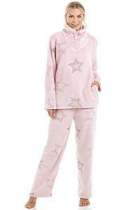 Camille Divers Ensembles de Pyjama en Polaire Douce à Manches Longues pour Femmes 46/48 Pink Star Pyjama