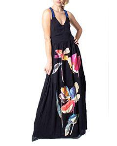 Desigual Robe Longue Femme Vest Lisboa 20swvw45 38 (s) Noir