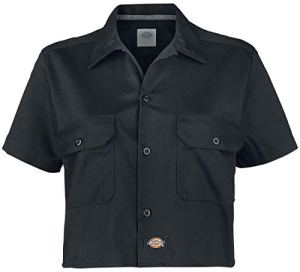 Dickies Silver Grove Shirt, Noir (Black Blk), 42 (Taille Fabricant: Large) Femme