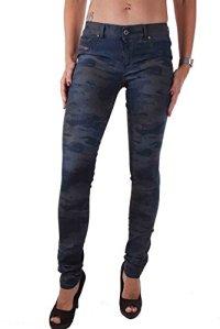 DIESEL Livier 0847C Femme Pantalons Jeans Slim Jeggins Camouflage (W27, Bleu)