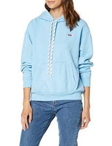Levi's unbasic' Hoodie Sweat-Shirt À Capuche, Bleu (Baltic Sea Wash Baltic Sea 0021), Medium Femme