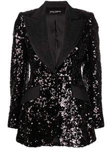 Luxury Fashion | Dolce E Gabbana Femme F29DJTHLMZMN0000 Noir Blazer | Printemps_Été